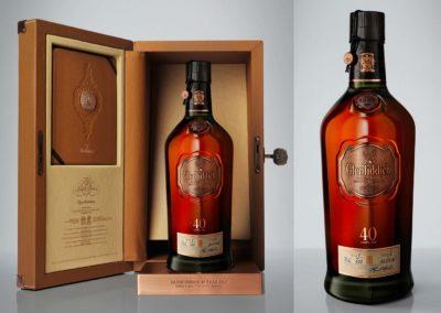 Glenfiddich 40 ans : Coffret et bouteille