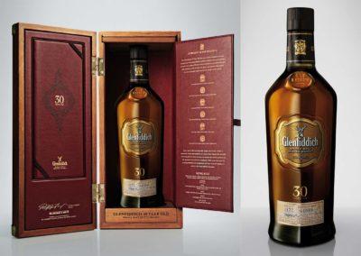 Glenfiddich 30 ans : Coffret et bouteille