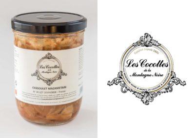 Les Cocottes de la Montagne Noire : Logo sur le packaging de cassoulet