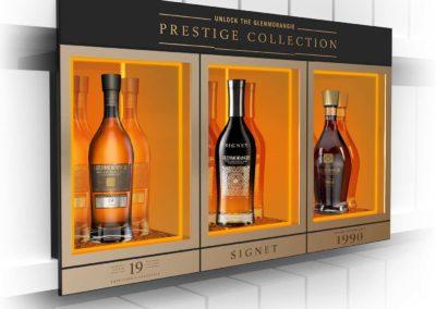 Glenmorangie Prestige Collection : Présentoir sur étagère
